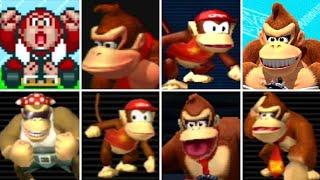 Evolution of Donkey Kong Series Characters in Mario Kart Games (1992-2017)
