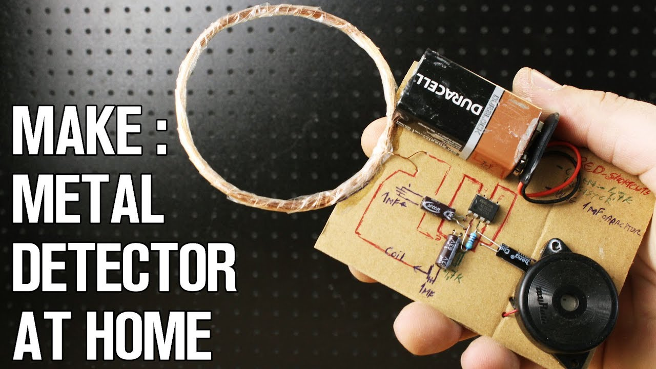How To Make A Metal Detector At Home Youtube Build Circuit