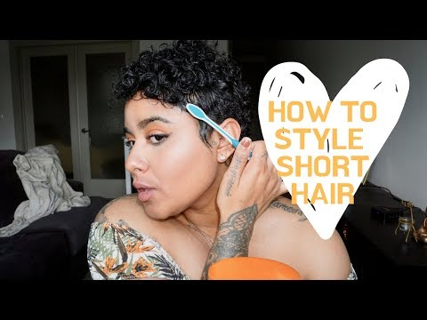 how-to-style-a-curly-pixie-cut|-short-hair-tutorial