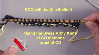 Provisional Cast On With Built-in Lifeline Using Crochet CO