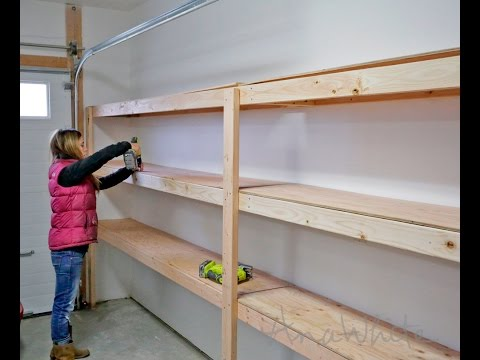 How To Build Garage Shelving - Easy, Cheap And Fast!