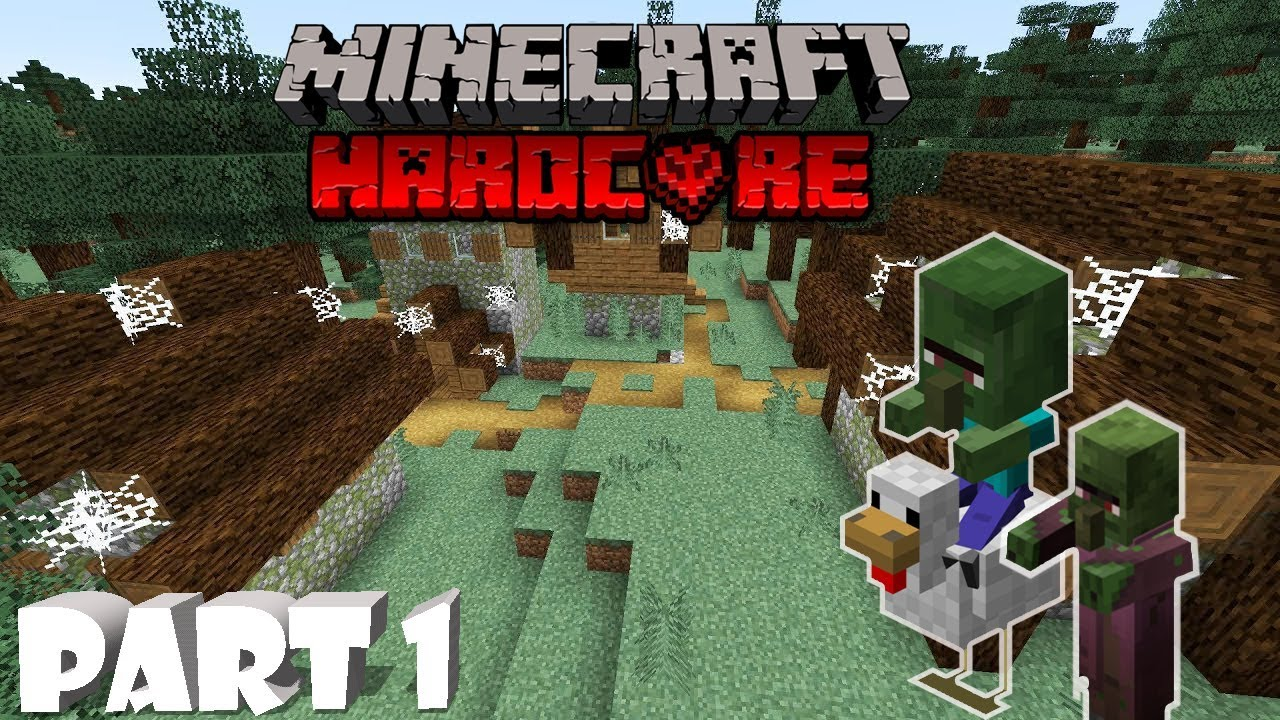 Minecraft Hardcore Survival Part 1: VILLAGERS TURNED INTO ...