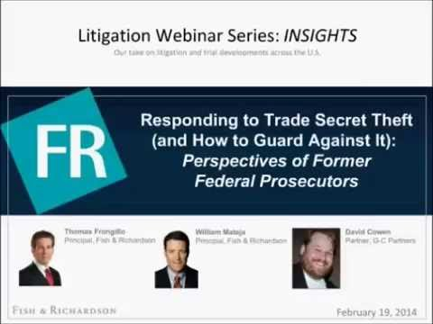 Webinar | INSIGHTS - Trade Secret Theft: Perspectives of Former Federal Prosecutors