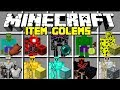 Minecraft Item Golem Mod | Spawn NEW Golems And Protect The VIllagers! | Modded Minigame