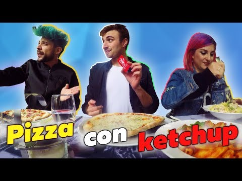 How to eat Italian food? Pizza with ketchup, Pizza rolls aka Pizza burrito, spicy oil challenge