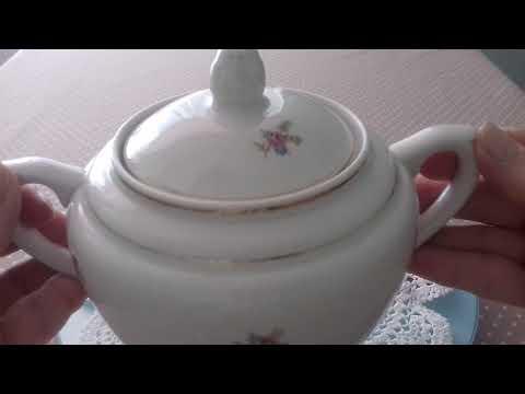 Пополнение моей коллекции Посуда СССР Сахарница Масленка