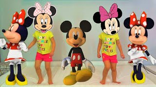 Five little Mickey and Minnie Mouse jumping on the bed + More Nursery Rhymes & Kids Songs