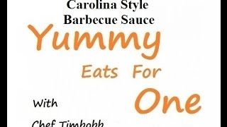 Carolina Style Barbecue Sauce -  Low Carb