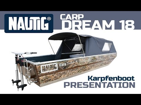 NAUTIG CarpDream® 18 - Aluminium Karpfenboot / Professional All-weld Cabin Carp Fishing Boat.