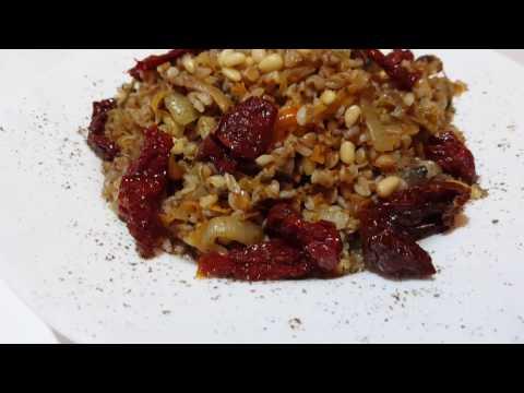 Рецепт Постные рецепты Рецепт на каждый день Гречневая каша с шампиньонами и кедровыми орешками