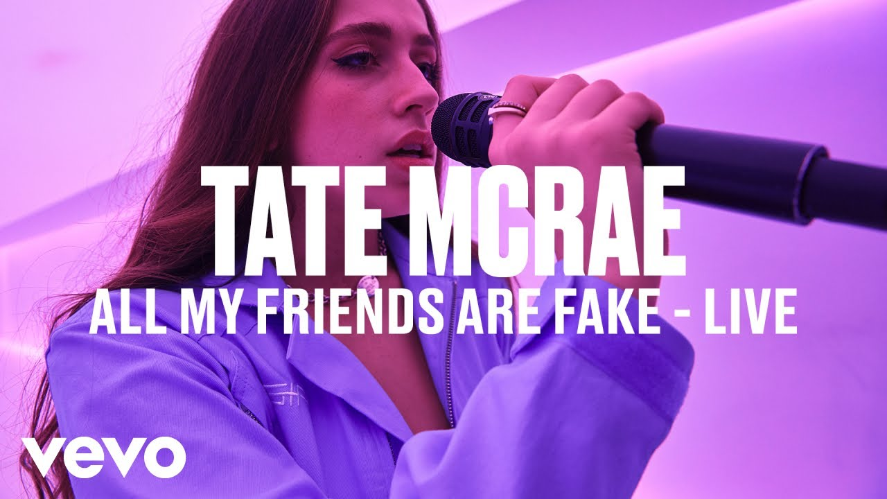 Tate McRae - all my friends are fake (Live)   Vevo DSCVR
