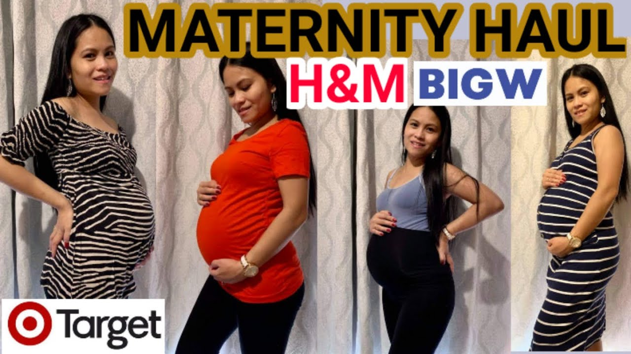 Maternity Clothing Haul 2021 Affordable Feat H M Target Big W A Must Have Maternity Fashion Youtube