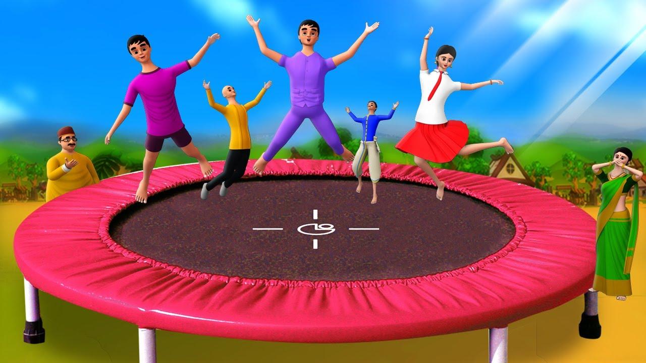 டிராம்போலைன் வர்த்தகம் - Trampoline Jumping Business 3D Animated Tamil Moral Stories   Maa Maa TV