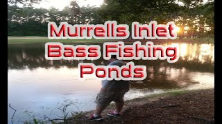 bass fishing the runoff ponds of myrtle beach s c with 843 fishing tv