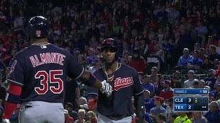 CLE@TEX: Perez drives in Diaz with sac fly to left