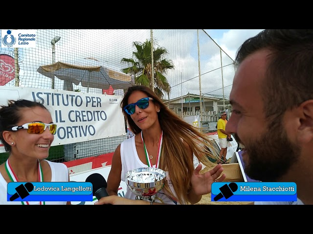 28.07.19 - ICS BeachVolley Tour Lazio 2019: intervista a Milena Stacchiotti e Lodovica Langellotti