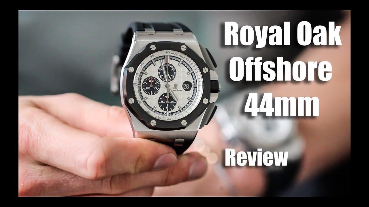 Audemars piguet royal oak offshore 44mm steel review youtube for Royal oak offshore n7243