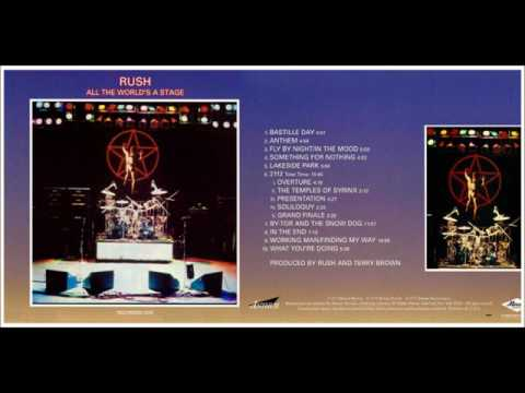 RUSH..ALL THE WORLD'S  A STAGE - THE LIVE ALBUM