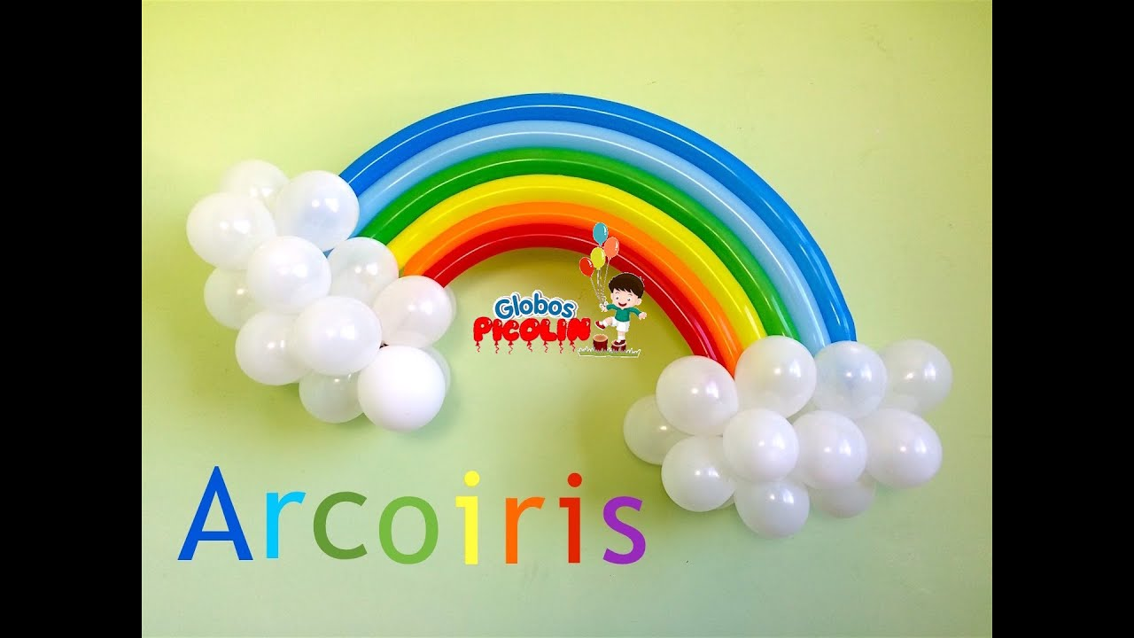 Como hacer un arcoiris con globos para decoraciones my for Decoracion con globos