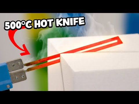 I used a HOT KNIFE to Sculpt FOAM! - Really Satisfying!!