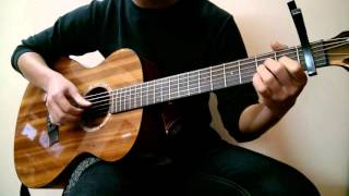 (Chen) Everytime - VA Guitar Solo (with TAB)