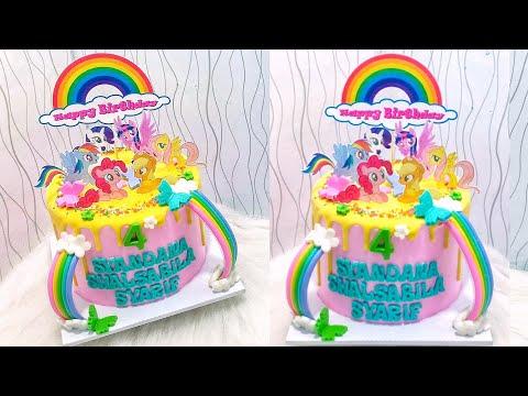 Cara Menghias Kue Ulang Tahun My Little Pony Beda Dengan