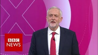 Jeremy Corbyn pressed over whether he'd use nuclear weapons - BBC News thumbnail