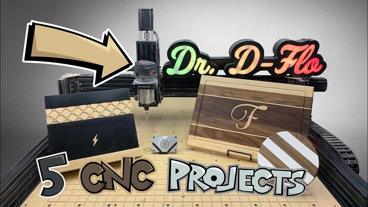 Download 5 Awesome Projects/Gifts for your CNC Router and How to Make Them