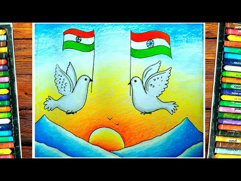 Independence Day Drawing Competition  15th August Drawing  flag Painting