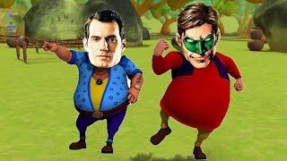Motu Patlu VS John SuperMan Superhelden-Motu Patlu Färbung in Hindi - 3D-Animation-Kinder-Cartoon