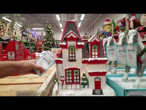 Shop With Me Martha Stewart Living Christmas Decorations Home Depot 2017