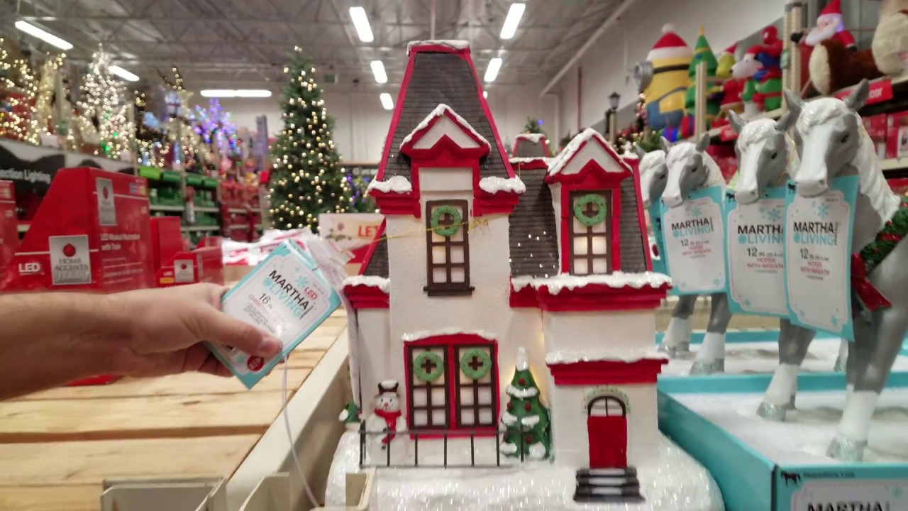 Shop With Me Martha Stewart Living Christmas Decorations Home Depot 2017  YouTube