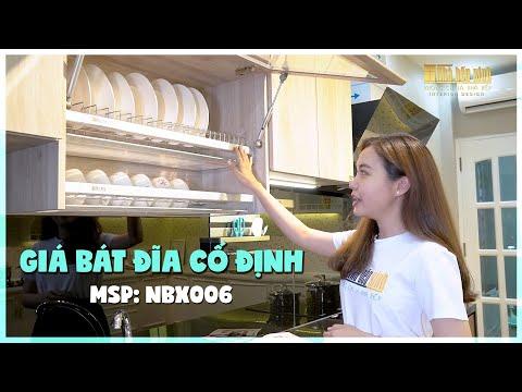 Phụ Kiện Tủ Bếp - Giá Bát Đĩa Cố Định - NBX006