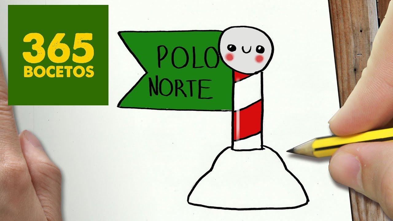 Como Dibujar Un Polo Norte Para Navidad Paso A Paso Dibujos Kawaii