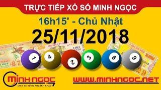 Xổ số Minh Ngọc™ Chủ Nhật 25/11/2018 - Kênh chính thức từ Minhngoc.net.vn