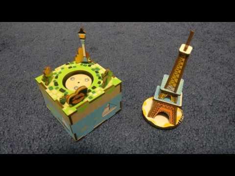 Paris Eiffel Tower [Unboxing]Wooden Music Box 2/2