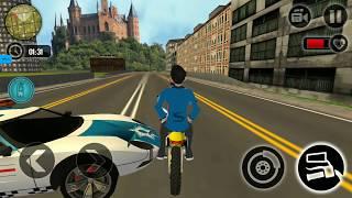 Motorbike Escape Police Chase: Moto VS Cops Car - Gameplay - Games For Kids - Bike Game - Bike Stunt