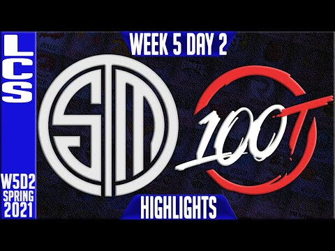 TSM vs 100 Highlights   LCS Spring 2021 W5D2   Team Solomid vs 100 Thieves