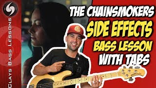 Gambar cover SIDE EFFECTS - BASS Lesson with TABS - THE CHAINSMOKERS