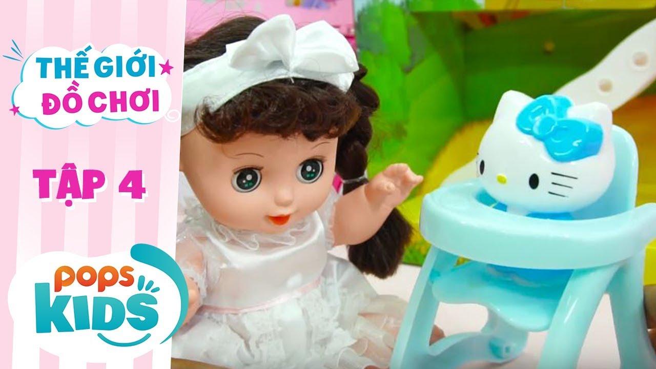 Thế Giới Đồ Chơi - Tập 4 - Twin Dolls Đi Chợ Và Nấu Bếp | Baby Dolls & Toys Review