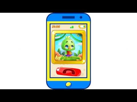 Детский телефон с животными