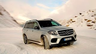 2017 Mercedes Benz GLS 550 / GLS  500 FIRST DRIVE REVIEW in the snowy  Austrian Alps