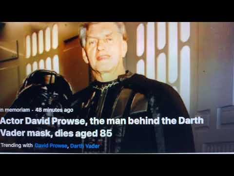 David Prowse MBE Darth Vader Himself, Passes At 85 Years Old; AKA Green Cross Code Man
