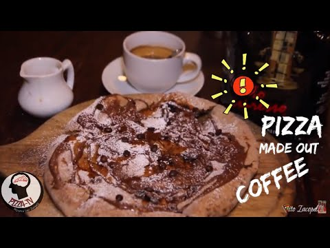 PIZZA MADE OUT OF ITALIAN COFFEE