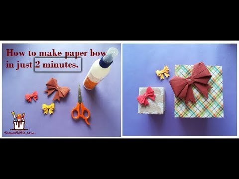DIY How to fold Paper bow/Ribbon | Gift Wrapping ideas | thebestlittle