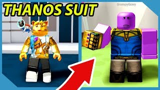 Becoming Thanos in Roblox Superhero Simulator