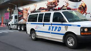 NYPD HERCULES UNIT PATROLLING AROUND WEST 42ND STREET STREET TIMES SQUARE, MANHATTAN, NEW YORK CITY.