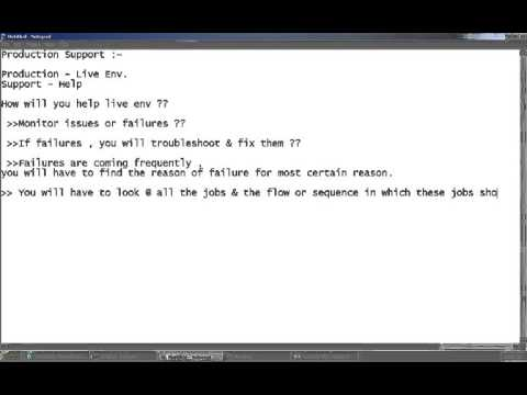 etl production support concepts activities - Production Support Interview Questions And Answers