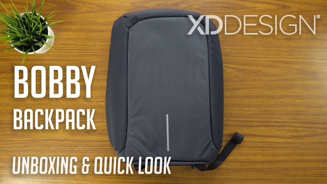 eaf7bc9ca88 Bobby Anti-theft Backpack / XD Design | Unboxing & Quick Look - YouTube