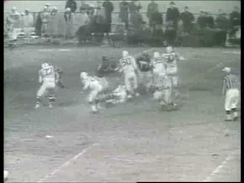 Giants vs Colts football game 1958